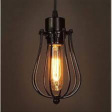retro vintage hängeleuchte pendelleuchte deckenbeleuchtung käfigle e27 fassung für esstisch schlafzimmer kaffee bar leseraum beleuchtung