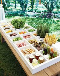 Garden Wedding Buffet Ideas Outdoor For