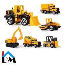 100 Construction Trucks 6 In 1 Kids Engineering Vehicles Set Toys Car Mainan KanakKanak