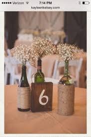 Rustic Wine Bottle Centerpieces Add Shorter With Hydrangeas