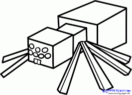 Minecraft Coloring Kids Spider Pages Printable