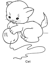 Cat Color Pages Printable Coloring Page For Kids Kitten 13971