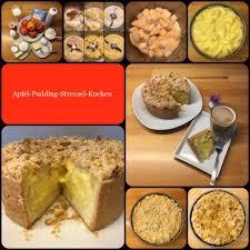 kleiner apfel pudding streusel kuchen wunderbar