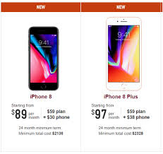 Telstra Vodafone and Virgin iPhone 8 and 8 plus plans available