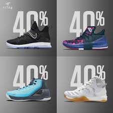 40 discount on selected basketball footwear are available at