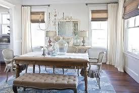 Dining Room With White Curtains