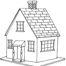 House Coloring Sheet Free Printable Pages For Kids