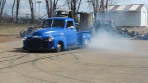 1950 Chevy 3100 Burnout - YouTube