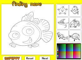 Finding Nemo Online Coloring Game