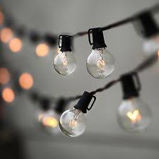outdoor string lights globe lat with 25 clear bulbs ul 25ft