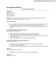 Free Download Sample 11 Photography Resume Examples Apply It Right Now