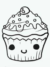Easy Cute Cupcake Drawings Clipart Free Clipart