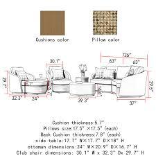 Sirio Patio Furniture Covers Canada by Italia 9 Piece Seating Set By Sirio