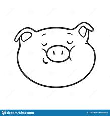 Cerdo De Emoji Para El Libro De Colorear Icono Del Emoticon