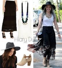Hilary Duffs Boho Maxi Skirt Look For Less