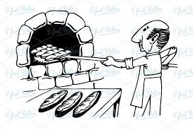 bakery clipart black and white 7