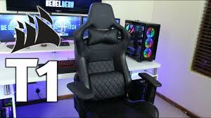 rise above the rest with the corsair t1 race gaming chair review