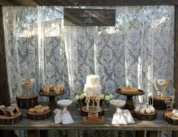 Sweetie Pie Bridal Wedding Shower Rustic Table