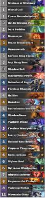 warlock aggro deck 2016 best warlock deck january 2017 season 34 hs decks and guides
