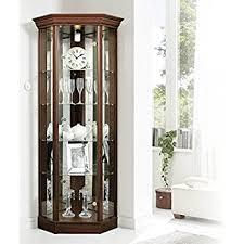 corner cabinet with pelmet glass display light oak