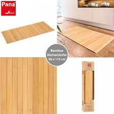 küchen oder badezimmerläufer aus bambus