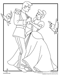 Disneys Cinderella Coloring Pages And Prince Charming Page Cartoon Jr