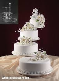 images of white wedding cake with risers Google Search