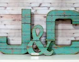 Wedding Letter Set Large With Ampersand Rustic Decor