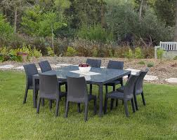 Keter Lounge Chairs Grey by Amazon Com Keter Fiji Dining Table Modern All Weather Patio