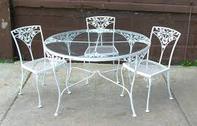 Dining Table: Fascinating Round White Wrought Iron Outdoor Table ... Brompton Metal Garden Rectangular Set Fniture Compare 56 Bistro Black Wrought Iron Cafe Table And Chairs Pana Outdoors With 2 Pcs Cast Alinium Tulip White Vintage Patio Ding Buy Tables Chairsmetal Gardenfniture Italian Terrace Fniture Archives John Lewis Partners Ala Mesh 6seater And Bronze Home Hartman Outdoor Products Uk Our Pick Of The Best Ideal Royal River Oak 7piece Padded Sling Darwin Metal 6 Seat Garden Ding Set