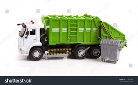 TOY Garbage Truck Toy Isolated On A White Background | EZ Canvas