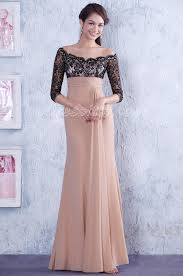 elegant off shoulder empire waist mother of the bride dress edressit