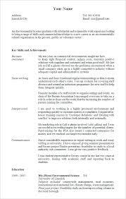 Sample Mature Student Resume Template