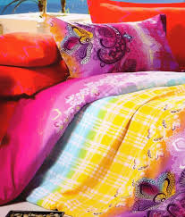 Rose Petals Multicolour Polyester Check Designed Double Bed Sheet