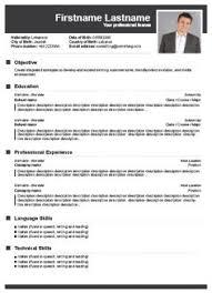Free CV Builder Resume Cv Templates