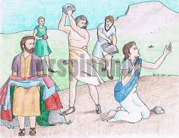 Stoning Of Stephen Book Acts Bible Colouring Page