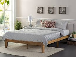 Zinus 12 Inch Wood Platform Bed No Boxspring Needed Slat Support Rustic