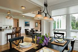 lighting fixtures dining room farmhouse with living room wood