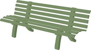 Bench Garden Furniture Green Outdoors Park Relax