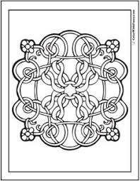 Flowers Celtic Design Coloring Page