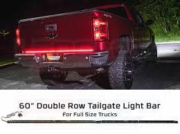 100 Lights For Trucks 2pc 60 Double Row Tailgate LED Light Bar