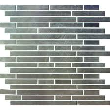 Home Depot Wall Tile Sheets by Ms International Silver Interlocking 12 In X 12 In X 8 Mm Metal