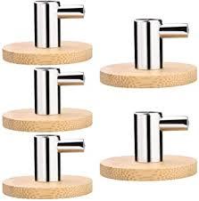 5 stück handtuchhalter kleiderhaken garderobenhaken holz bambus wandhaken handtuchhaken haken selbstklebend bad bademantelhaken für