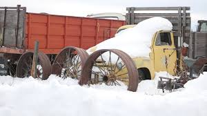 100 Trucks In Snow Medium Shot Old Stock Video Footage Storyblocks Video