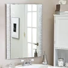 diy bathroom mirror frame ideas rectangular white stained wooden