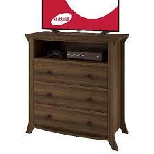 oakridge 3 drawer media dresser homestead oak ameriwood home