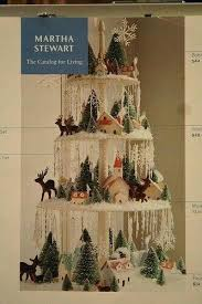 Martha Stewart Rotating Christmas Tree Glitter House Display From Magazine Issue Idea For Craft Shows Pre Lit