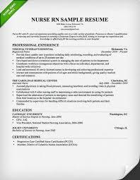 Nursing RN Resume Professional Sample For