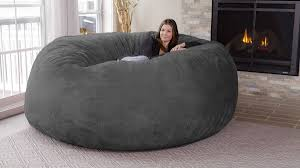 Chill Sack 8-Foot Bean Bag Chair Tips Best Way Ppare Your Relax With Adult Bean Bag Chair Porch Den Green Bridge Large Memory Foam 5foot Oversized Camouflage Kids Big Joe Fuf In Comfort Suede Black Onyx Sculpture 2007 Giant 6foot Enticing Chairs In Bags Cheap Lounge Aspen Grey Fauxfur Bean Bag Cocoon 6 Astounding Discount For Additional Seating