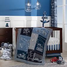 100 Truck Crib Bedding Metropolis Blue CarPlane Transportation Theme 4Piece Nurser